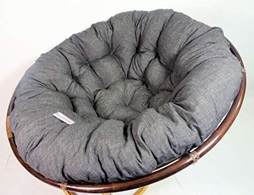 Rattani - Polster, Kissen, Auflage, Ersatzpolster für Rattan Papasansessel, Stoff Nuevo Loneta, D 130 cm, Made in EU
