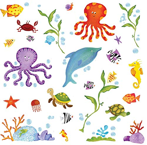 RoomMates RMK1851SCS Adventures Under The Sea Peel and Stick Wall Decals , Multicolor