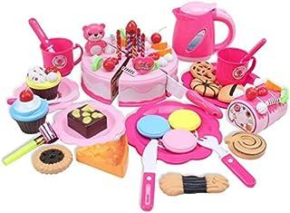 Children's house simulation happy birthday cake cut to see children's house kitchen kitchen utensils toys cut pink