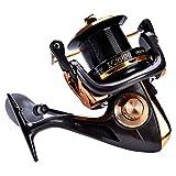 Mulinello in metallo per canna da pesca, con filettatura 12+1BB ad alta velocità, e pesca in acqua...