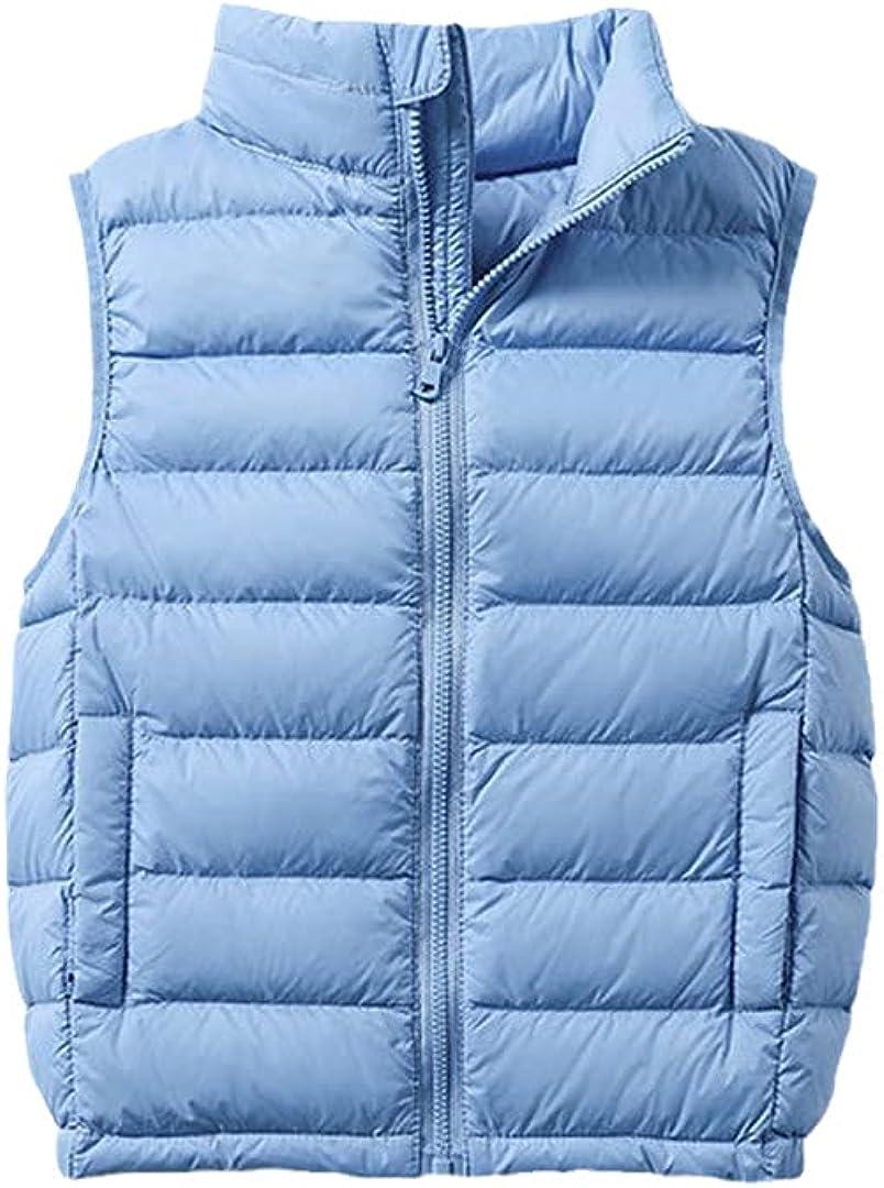 FLZS 2-12Y Warm Jacket for Children Jacket Turn Down Collar Vest for Kids Vest