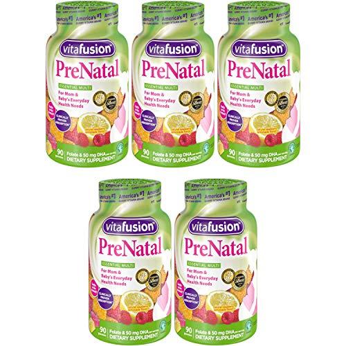 Vitafusion Prenatal, Gummy vsojm Vitamins, 90 Count (5 Pack)