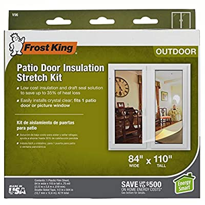 Frost King V96H Outdoor Stretch Window Kit, 84in x 110in, Clear, 84-Inch by 110-Inch