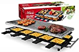Artestia Raclette Table Grill,1500W Electric Indoor Grill,10 Paddles Korean Bbq Grill,Cheese Raclette with Grill Stone and Non-Stick Reversible Aluminum Plate for Parties Family
