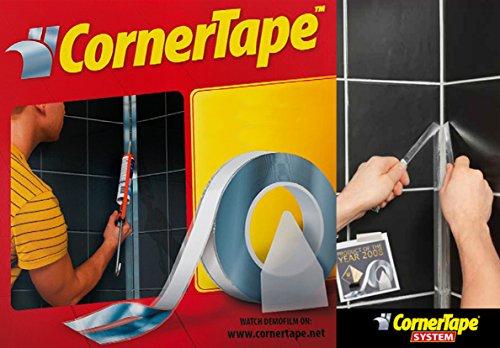 CornerTape™ für eine perfekte Fuge! 25 Meter, 4mm. Abklebeband für Silikonfugen/ Fugenband/ Klebeband/ Schablonenband