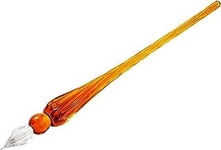 Molshine Handmade Crystal Glass Dip Pen Glass Signature Pen Business Present (Deep water red)