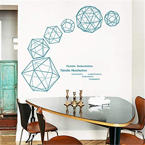 FDCVF Muursticker, moderne decoratie, decoratie, plakfolie, zelfklevend, verwijderbaar, ruimtelijk visueel uitbreiding, geometrische 3D-kubus, slaapkamer, woonkamer, achtergrondmuur, groen