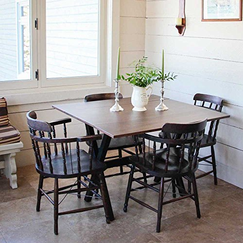 Nathan James 41001 Kalos Solid Wood Drop Leaf Folding Kitchen Dining or Console Table