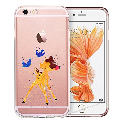 blitzversand Handyhülle Fruit FRÜCHTE kompatibel für iPhone 11 Bambi Rehkitz Schutz Hülle Case Bumper transparent M2