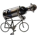 alles-meine.de GmbH Flaschenhalter / Flaschenständer -  Fahrrad / Radfahrer  - aus Metall - ideal für Wein, Sekt, Bier u.v.m. - Fahrradfahrer Biker - Rennrad - Weinflaschenhalt..