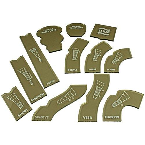 LITKO Gaslands Template Set, lichtdurchlässige Bronze (12)