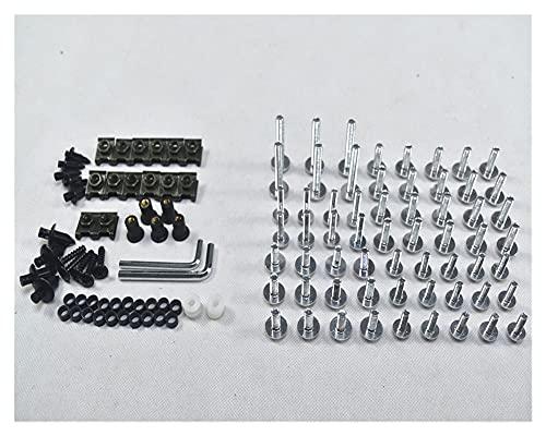 JUANJUAN - Juego completo de tornillos de carenado para CBR 954 RR 2002-2003 (color: plata)