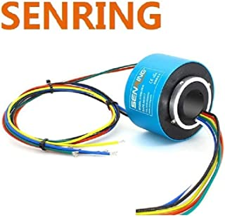 SENRING Factory Outlets 20MM Diam Through Hole Slip Ring 6 Wires 10A 440VAC VDC 400RPM Rotary Connector for CCTV Equipment System