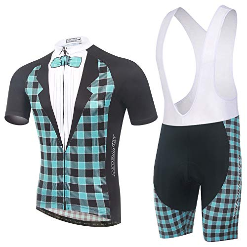 AMRT Trajes de Ciclismo para Mujer Conjunto de Jersey de Ciclismo Culotte Corto con Kits de Ciclismo Acolchados 3D Confort Transpirable Protección UV con Almohadilla de Gel para Andar en Bicicleta
