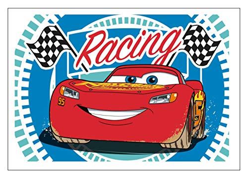 Disney Cars – Rayo McQueen – Toalla de mano – Toalla para rostro – Idea de regalo para cumpleaños o Navidad 100% algodón, Ch02, 40 x 60 cm