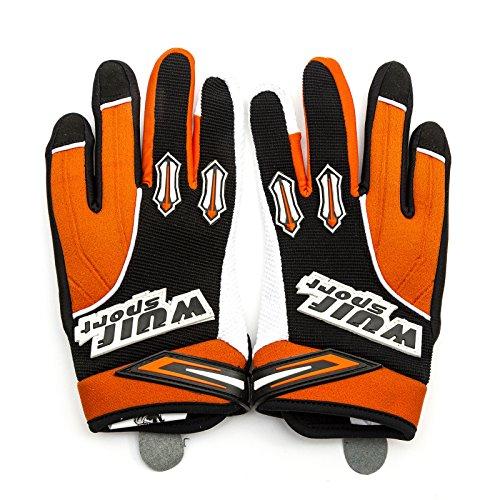 WULFSPORT Stratos Kid Glove Motorcross BMX Mountain Bike Trial Children Off Road Orange XXS 6-9 Years