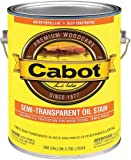 Cabot Stains 0306 Exterior Stain, Semi-Transparent Oil with Neutral Base, 1 Gallon