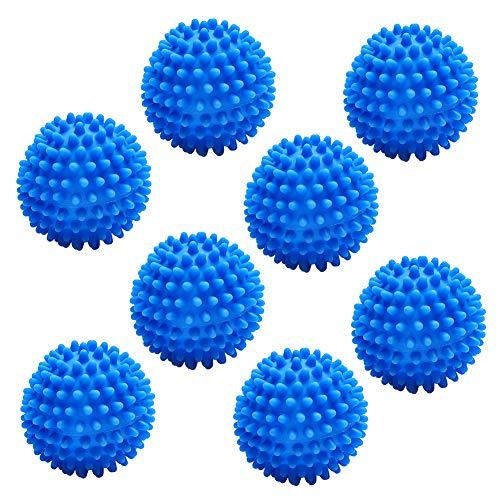 JPYH 8 pcs Bolas de Secadora de Lavadora Reutilizables, Bolas para Secadora no se derriten, Pelotas de Secado para Lavandería Suavizante de Ropa Reducción Estática Ropa Más Suave