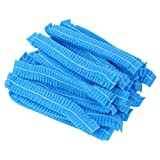 100 pezzi monouso protezione dei capelli non tessuto cappuccio parapolvere berretto per se...