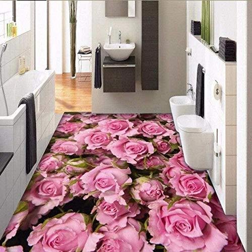 3D Boden Aufkleber Aufkleber Wandbild Tapete auf dem Boden Rose Rose Wohnzimmer 3D Fliesen Schlafzimmer Wohnzimmer-150 * 105cm