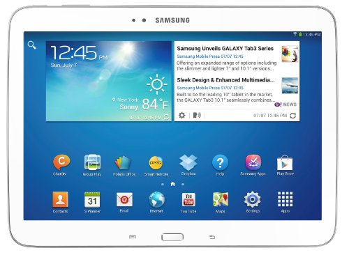 Samsung Galaxy Tab 3 Tablette tactile 10.1' Processeur Intel Atom dualcore 1,6 GHz 16 Go Android Jelly Bean 4.2.1 Bluetooth WiFi Blanc