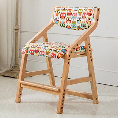 Tabouret en bois WashableChildren's chaise d'étude chaise de bureau/étudiant chaise élévatrice chaise chaise en bois massif chaise d'écriture petits fauteuils d'ordinateur arrière (Couleur : B7)