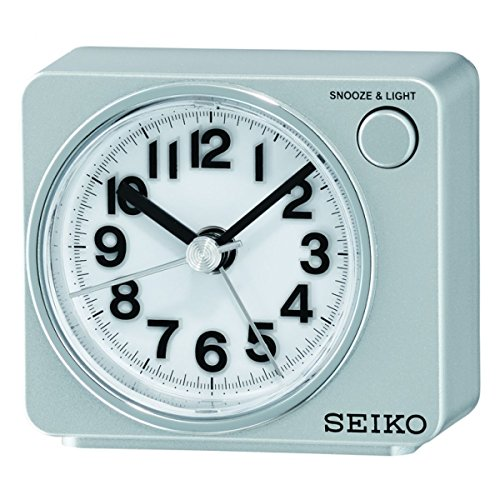 SEIKO QHE100S - Reloj Despertador con Luz y Movimiento Continuo