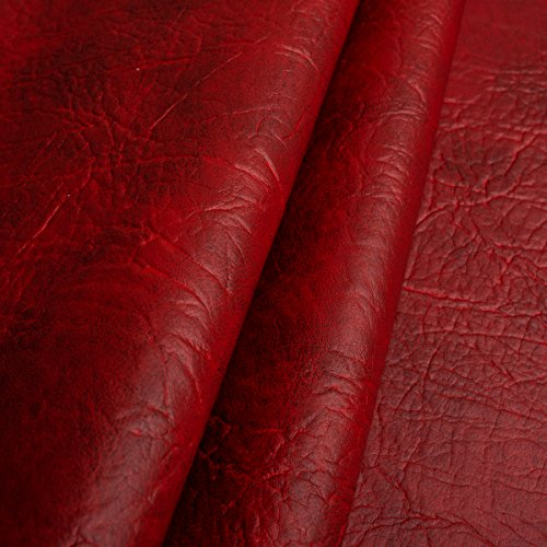 EDGE Exklusives Kunstleder Mammut Meterware Polsterstoff Bezugsstoff Rot