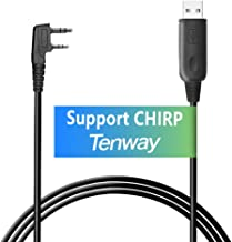 Tenway Baofeng USB Programming Cable Win 7/10, 64Bit for Baofeng Radio UV-5R, BF-888S, H-777 with Driver CD