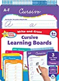 Active Minds - Write-and-Erase - Wipe Clean Learning Boards Ages 6+ - Cursive