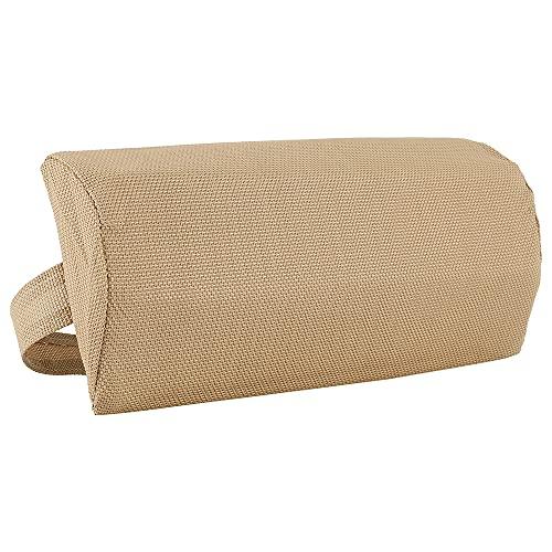 Cuscino Poggiatesta per Sdraio da Giardino 43x14cm Poggiatesta per Lettino Prendisole Poltrona Relax da Esterno (Beige)