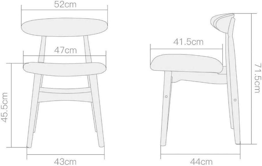 MXXYZ Fauteuil de Loisir Table et Chaise rétro en Bois Massif PU Chaise de Salle à Manger Chaise Chaise Salon hôtel Restaurant E