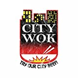 A/X 13 cm 8,5 cm para City Wok, Pegatina de reparación de Coche, calcomanía Impermeable, Vinilo de Personalidad Creativa