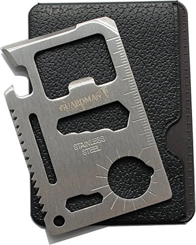 Fathers Day Gifts Guardman 11 in 1 Beer Opener Survival Credit Card Tool Fits Perfect in Your Wallet (1) Stocking Stuffers for Men Christmas Gifts Under 10 Dollars