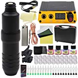 Tattoo Pen Kit-Yuelong Rotary Tattoo Machine Kit Tattoo Pen RCA Cord Power Supply 20 Cartridges Needles Foot Pedal Practice Skin Pigment Ink Caps Tape Tattoo Accessices Tattoo Case (Pen 2)