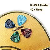 Pick Holder Easy to Stick on Guitar Suitable for Paste on Any Shape of Pick, Pickholder for Acoustic Guitar...