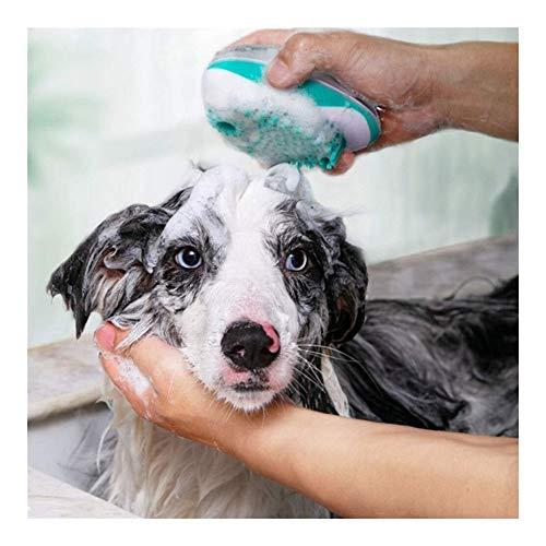 Pet Bad Borstel, Huisdier Shampoo Borstel Met Interne Opslag Vloeibare Huisdier Badkamer Gereedschap Voor Kleine, Medium & Grote Honden En Katten