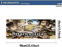 PQGHJ Attack_On_Titanゲーミングマウスパッドキーボードマウスマットステッチエッジ滑り止めラバーゲームマウスパッドリストレスト多機能パッド、Rgbマウスパッド(30X80Cm)