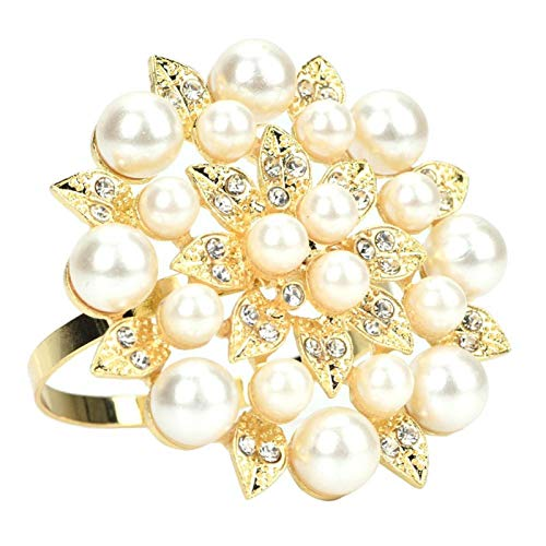 Anillo de servilleta de diseño elegante para fiesta de boda(Golden 6605)