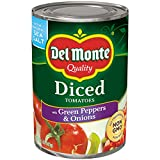 Del Monte Diced Tomatoes with Green Pepper and Onion, 14.5-Ounce