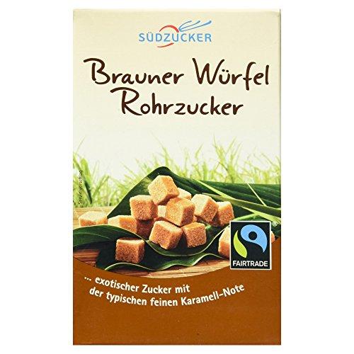 Südzucker Brauner Würfel Rohrzucker Fair Trade, 500 g