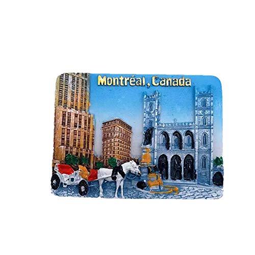 Time Traveler Go Imán para nevera de Montreal, Canadá, regalo de recuerdo 3D para decoración del hogar y la cocina