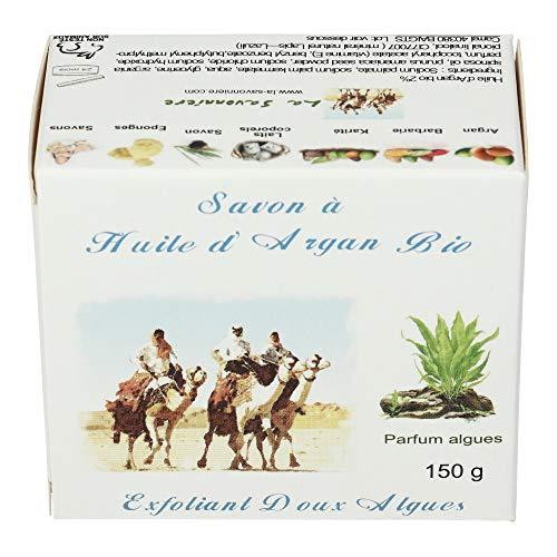 La Savonnière Savon Exfoliant Argan Algues Abricot 150 g - Lot de 3