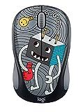 Logitech M238 Kabellose Maus, Doodle Kollektion, 2.4 GHz Verbindung via Nano-USB-Empfänger, 1000...