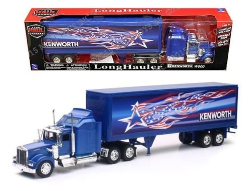 NEWRAY 1:32 LONG HAUL TRUCKER - KENWORTH W900 PATRIOTIC TRUCK SS-12323
