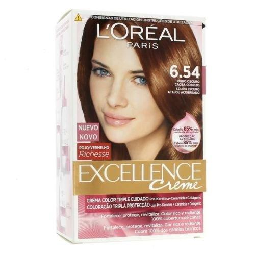 L \'Oreal Excellence Creme Haarfarbe–6.54verkupferter Dunkelblond Mahagoni