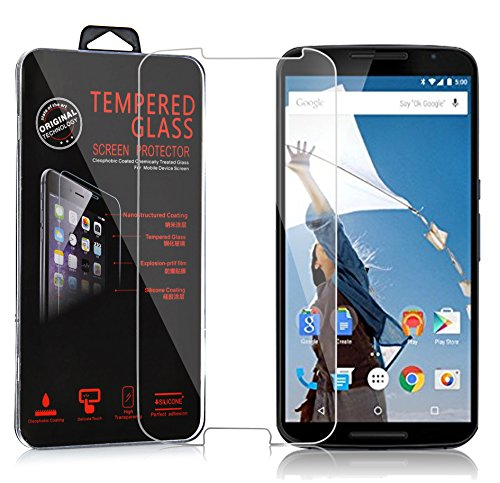 Cadorabo Panzer Folie für Motorola Google Nexus 6 / 6X - Schutzfolie in KRISTALL KLAR - Gehärtetes (Tempered) Bildschirm-Schutzglas in 9H Festigkeit mit 3D Touch Kompatibilität