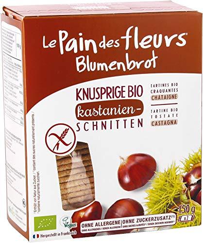Blumenbrot Bio Knusprige Bio Kastanien-Schnitten (6 x 150 gr)