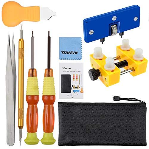 Vastar Uhrenwerkzeug, Uhren Öffner für die Rückseite der Uhr, Batteriewechsel Werkzeug für Uhren, mit Handbuch und Aufbewahrungstasche (Uhrenwerkzeug)