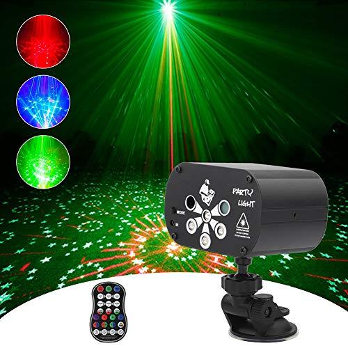 MORFIT Partylicht USB Wiederaufladbare Mini Discolicht, RGB LED Discokugel Sound Aktivierte Party Lampe Bühnenlichter mit Fernbedienung für Dancing Bar Karaoke Christmas
